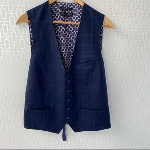 🇬🇧 Ted Baker Men's Debonair Check Wool Waistcoat